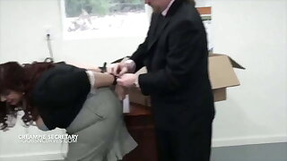 Busty mature secretary fucked and creampied by a cruel boss