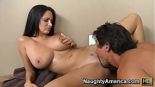 Naughty America Ava Addams fucking in the pool with her tattoos