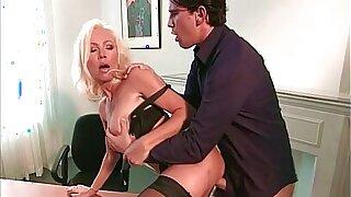 Teen Boy fucks Beautiful Bigtits Blonde MILF, Helen Duval