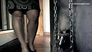 Dominatrix Mistress April - Slave Locked up