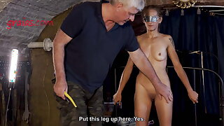 Petite MILF tortured with candle