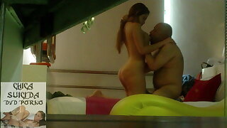 Hot Venezuelan MILF escort have sex on hidden camera