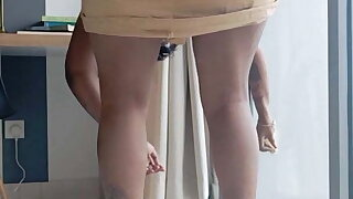 Innocent Maid Ilaria Forced to cum on a big white dick