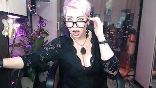 Immodest dancing of juicy Russian milf AimeeParadise.!.