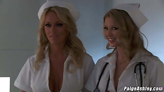 Paige Ashley fucking Johnny Castle in a hospital threesome