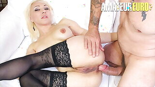 AMATEUR EURO - Ukrainian Iris Hot Doll Gets Anal From Daddy