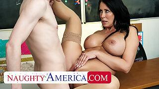Naughty America - Sexy professor Reagan Foxx wants some cock