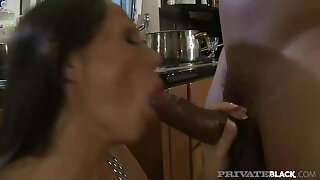 PrivateBlack - Busty Mandy Bright Takes Hard BBC In Kitchen!