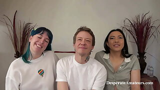 Casting threesome compilation – hot milf has spitroast group fun D